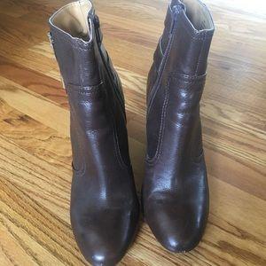 Nine West dark brown wedge ankle boots